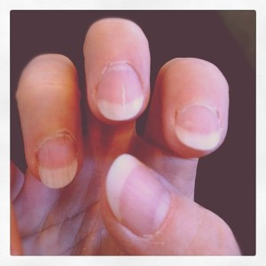 Nails - filed and buffed, ready for action..